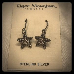 Handcrafted Starfish Sterling Silver Earrings
